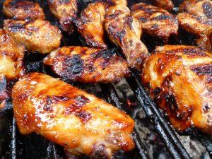 wet chicken wings